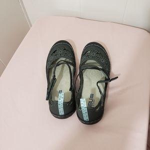 JBU by Jambu Memory Foam Sandals 8M Gray